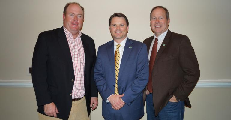 West Higginbotham, Andrew Grobmeyer and Rick Bransford Ag Council Arkansas