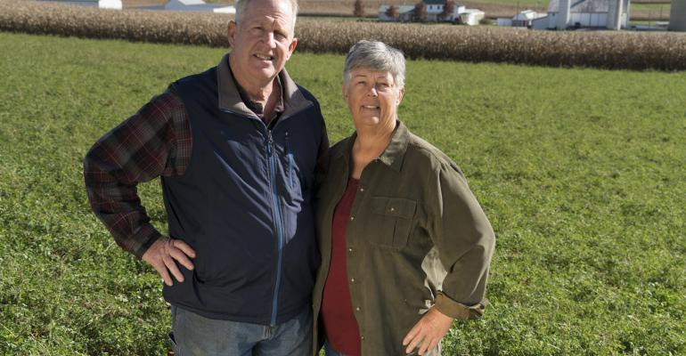 david and linda burrier, conservation farmers
