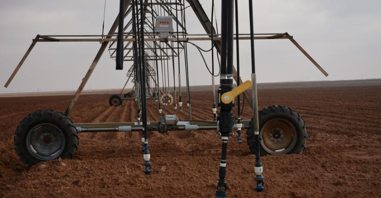 Center pivot irrigation systems are more efficient that furrow watering an important consideration for Texas Panhandle producers who compete for declining water resources
