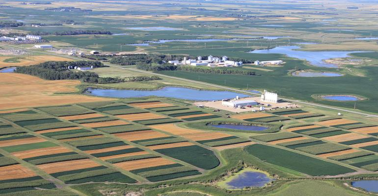 aerial view of Conservation Cropping System Project Farm