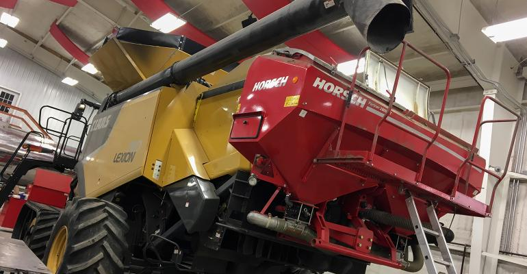 Combine with seeder on the back.