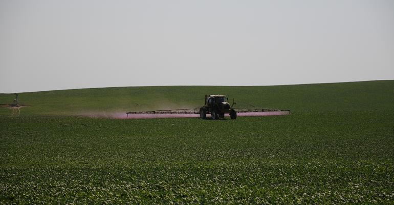 Visual drift is apparent in this trial by the Pesticide Application Technology Lab at University of NebraskaLincoln which evaluated multiple nozzles and droplet sizes in an 8 to 12 mph wind Pink florescent dye is added to spray solutions to evaluate pesticide drift in the field Mylar cards spread at known distances from the spray rig to evaluate particle travel Under a black light in the lab even drift invisible to the naked eye can be seen and measured