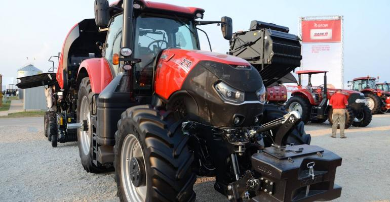 Case IH rolls out the Optum tractor line  with two models  as part of a 2016 advance look at new machines