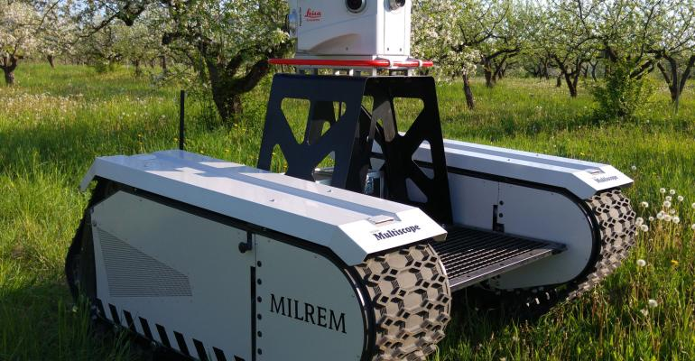 Milrem and Leica Geosystems have teamed up to make this unmanned ground vehicle that can work in a range of conditions