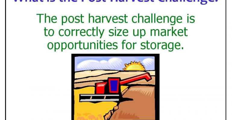 Post-Harvest Marketing Challenge: Marketing Style & Carrying Charges