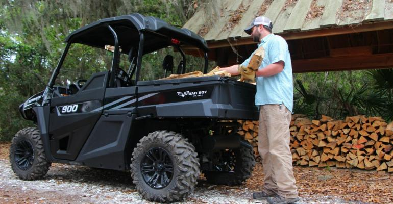 The Bad Boy Stampede 900 SxS Bad Boy Off Road39s first gaspowered utility vehicle lives up to its name as a work vehicle