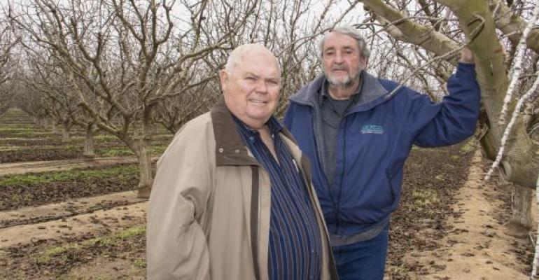 Pistachio growers Corky Anderson and Ken Puryear
