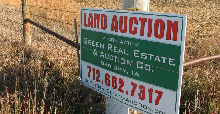 land auction sign