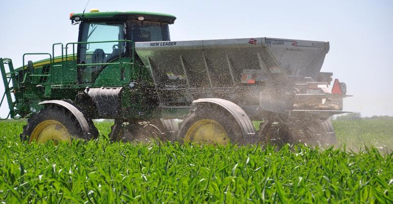 nitrogen application on corn field