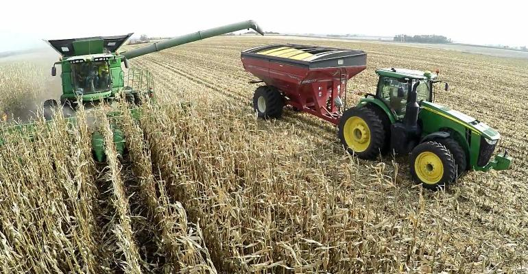 The AutoCart system eliminates a driver for the grain cart