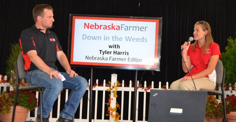 : Editor Tyler Harris chats with Jenny Rees, a Nebraska Extension educator, during a podcast recording last year.
