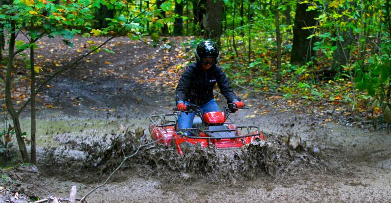 A ride in the woods on Kawasaki's new Brute Force 300 ATV