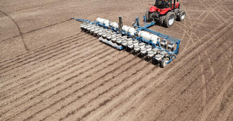 Spring planting with fertilizing