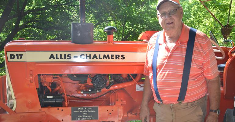 Dick Kruse with Allis-Chalmers D17 Series IV tractor