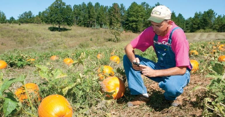 MICHAEL MAY of Lazy Acres Plantation in Chunky Miss uses social media to connect with visitors to his agritourism business which includes a pumpkin patch corn maze petting zoo and Christmas tree farm Photo by MSU Ag CommunicationsKat Lawrence