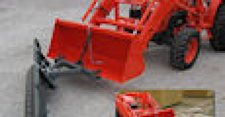 Worksaver Clamps On Snow Blade for Convenience