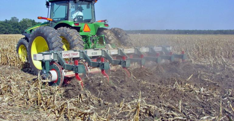 A primary tillage tool designed to chop stalks deep rip and establish raised beds in a single operation can save considerable time and fuel expense compared to several conventional tillage operations