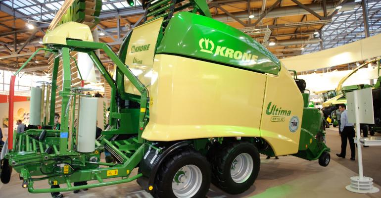 Nonstop round baler earns top international award for Krone