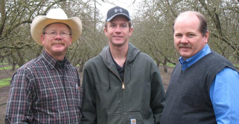 The Schafer family Mike Brian and Steve farm almonds wine and raisin grapes and pomegranates in Madera County Calif