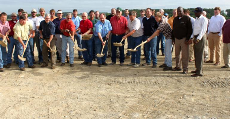 GROUNDBREAKING CEREMONIES were held in Noxubee County Miss for a 65 million state of the art cotton gin expected to be ready for operation midSeptember Noxubee County in the late 1800s was the leading cotton producing county in the state and growers here in the Prairie region continue to be some of the statersquos most progressive with consistently high per acre production