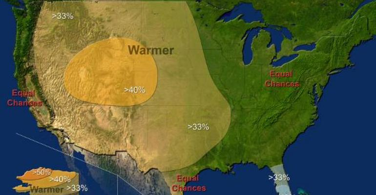 Despite a now wavering El Nintildeo the National Oceanic Atmospheric Administration was still predicting warmerthanaverage temperatures in much of Texas But itrsquos less of a sure thing than it was a month or so ago when a strong El Nintildeo was expected said the Texas state climatologist