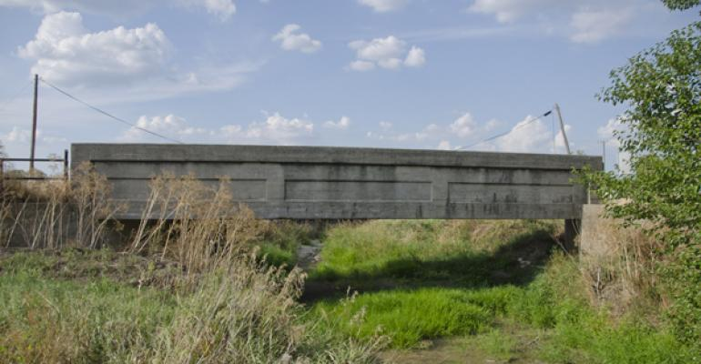 deteriorating rural bridge