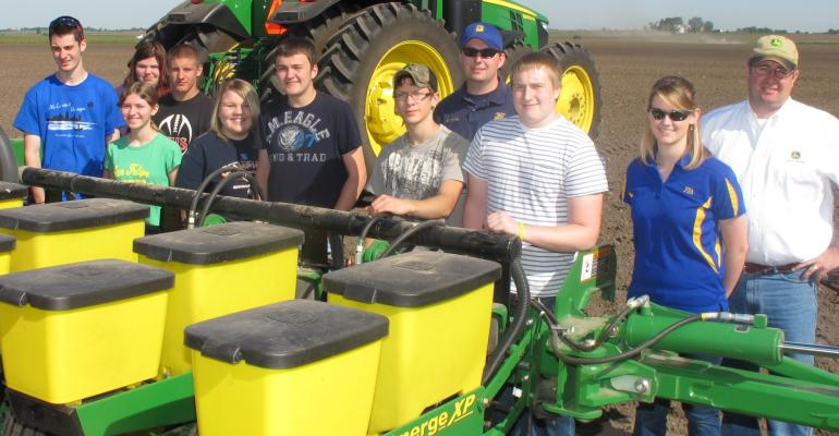 Heyworth FFA students tested the use of a soybean seed inoculant to increase yields The team saw a 14buacre increase during a dry season