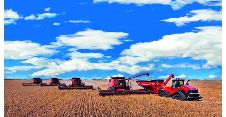 Oberg Family Farms Kragnes Minn runs its Case IH equipment on rented ground near Argusville ND