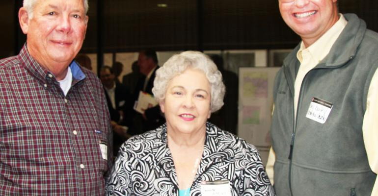 WILLIAM DEAN ATKINS left his wife Jeanette Monroe County peanut and grains producers and Coley Bailey Jr Coffeeville Miss cotton producer were among those attending the Mississippi Farm Bureau Federationrsquos annual commodity conference