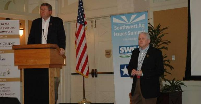 House Ag Committee chairman Frank Lucas and former chairman Larry Combest at last year39s inaugural SW Ag Summit