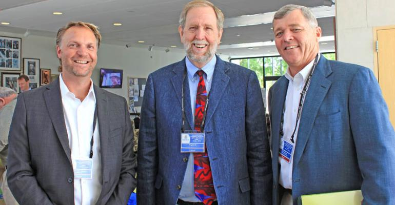 From left Henrik Skov Laursen director of Grundfos Pump Co and chair of Blue Tech Valley Doug Rauch former president of Trader Joersquos and Bill Smittcamp president and CEO of Wawona Frozen Foods