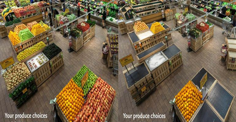 What a grocery store without honey bees looks like