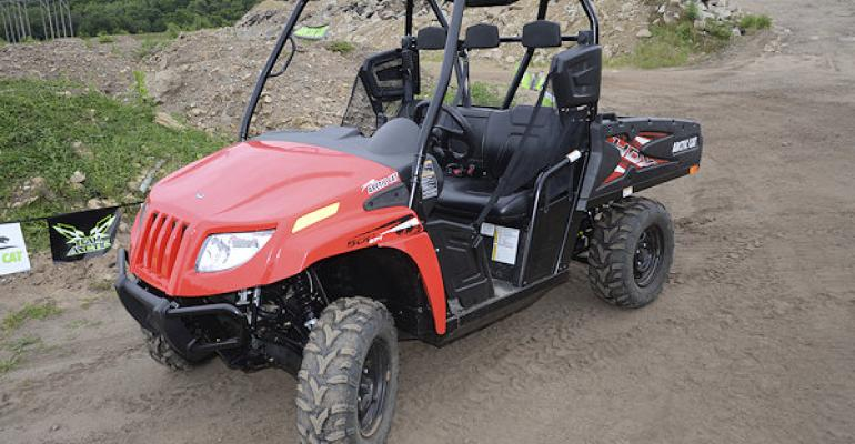 Arctic Cat is expanding its popular HDX utility sidebyside line with the 500 series including the base 500 HDX shown here It offers the larger 700series style bed for hauling Power comes from a 443 cc liquidcooled fourstroke engine