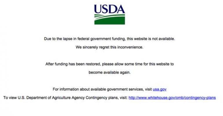 USDA shutdown, website debacle leave markets in the dark