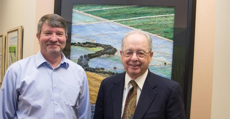 California Rice Commission President and CEO Tim Johnson left and CRC legal counsel George Soares actively pursue issues of common importance to urban legislators interests and those of the California rice industry