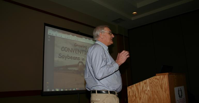 GARY SITZER NORTHEAST Arkansas producer says conventional soybean varieties still have a place in his operation He explains some of the issues the soybeans present at the recent Cotton and Rice Conference in Tunica