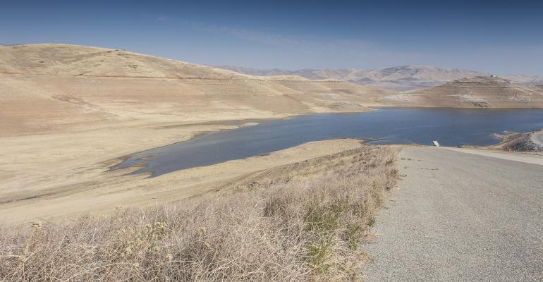 Severe drought has dried up rangeland and reservoirs alike all across California The hillsides above San Luis Reservoir should be green and lush by midJanuary rather than dusty and dry as would normally be seen in late summer