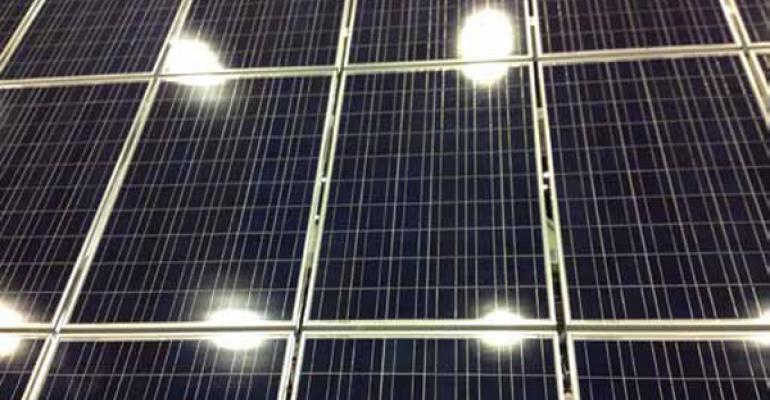 The cost of solar panels is coming down making it more viable for farmers to produce their own renewable energy
