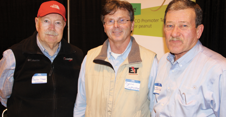 GORDON DARBY from left Novozymes Marks Miss Byrne Carpenter Nichino America Inc Senatobia Miss and Jim Nichols Novozymes Leland Miss were among those attending the annual meeting of the Mississippi Peanut Growers Association