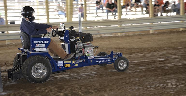 The University of Kentucky won the 2014 International Quarter Scale Tractor Student Design Competition with its twowheel drive machine featuring a single 31hp engine