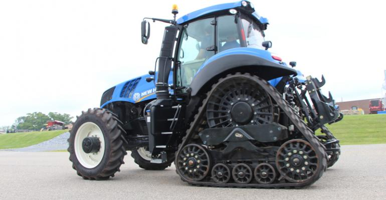 A Genesis T8 Series SmartTrax has a larger contact patch with the soil which New Holland says enhances traction and reduces ground pressure and compaction The contact patch of the 24inch SmartTrax system is up to 65 larger than a 71075R42 single rear tire set The 18inch SmartTrax system is 35 larger than a set of 48095R50 rear duals The reduced ground pressure allows earlier access to drying land and can provide extended working late in the season with a reduced risk of damage to the structure of the soil
