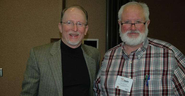 Randy Boman and Gary Strickland at inaugural Red River Crops Conference last January