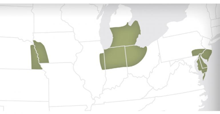 The green map areas include 55 locations unconfirmed but anticipated accepting higholeic soybeans in 2015 The 2014 processing locations were ADM Frankfort Ind CargillSidney Ohio Bunge Fort Wayne Ind Bellevue Ohio Delphos Ohio Perdue Agribusiness ndash Salisbury Md and Zeeland Mich Most processors are using local elevators to allow farmers to deliver at harvest Pioneer had footprints in Illinois Indiana Ohio Michigan Maryland Delaware and Pennsylvania in 2014 and has not confirmed all locations for 2015 Mon