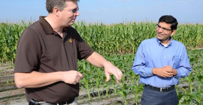 Understanding resistance starts once a new crop protection molecule comes into the market Clint Einspahr Arapahoe Neb talks about crop protection with Vinod Shivrain a researcher at Syngenta39s Vero Beach Research Center