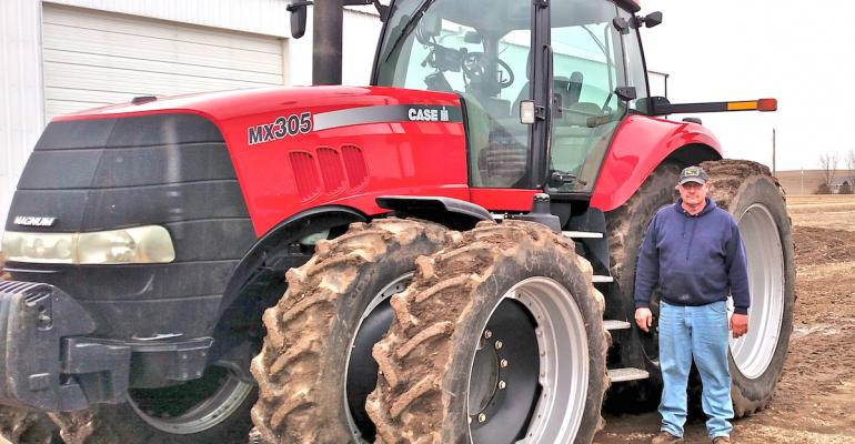 Myron Klarenbeek has his equipment ready for a big crop year He just hopes he can plow through weak corn and soybean markets and see improved marketing opportunities this spring or summer