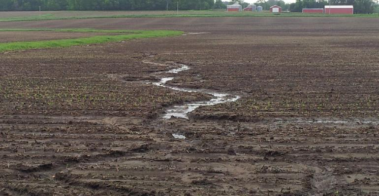 A wellestablished waterway in this field does nothing to stem ephemeral gullies Not counted in traditional soil loss equations such rainproduced erosion can multiply field soil loss by an additional 30 of expected losses
