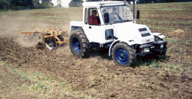 The Trantor tractor from England is developed for high speed road and fieldwork Source Tractor Wiki