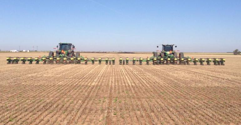 DAN SMITH Floyd County Texas cotton farmer finishes planting his 2015 crop following weather delays With adequate moisture in the soil cotton has the potential to make good yields if summer and fall weather is favorable