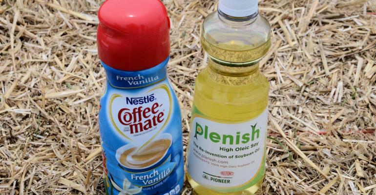 Yep there39s Plenish higholeic soybean oil in Coffeemate creamer from Nestle It39s one of the higholeic oil choices the company is using the other is canola depending on supply It39s a win for DuPont Pioneer as it works to grow the market for the soybean oil