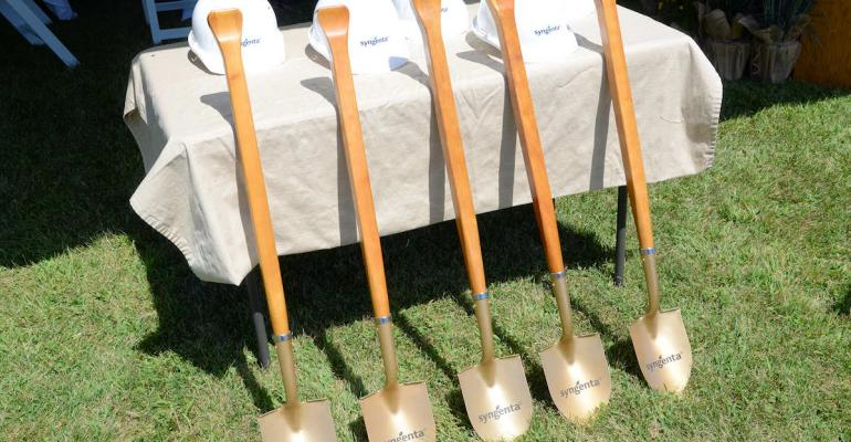 Dignitaries put these golden shovels to work to break ground for a new 20 million 38000sq ft expansion of the Syngenta North America Seedcare Institute in Stanton Minn